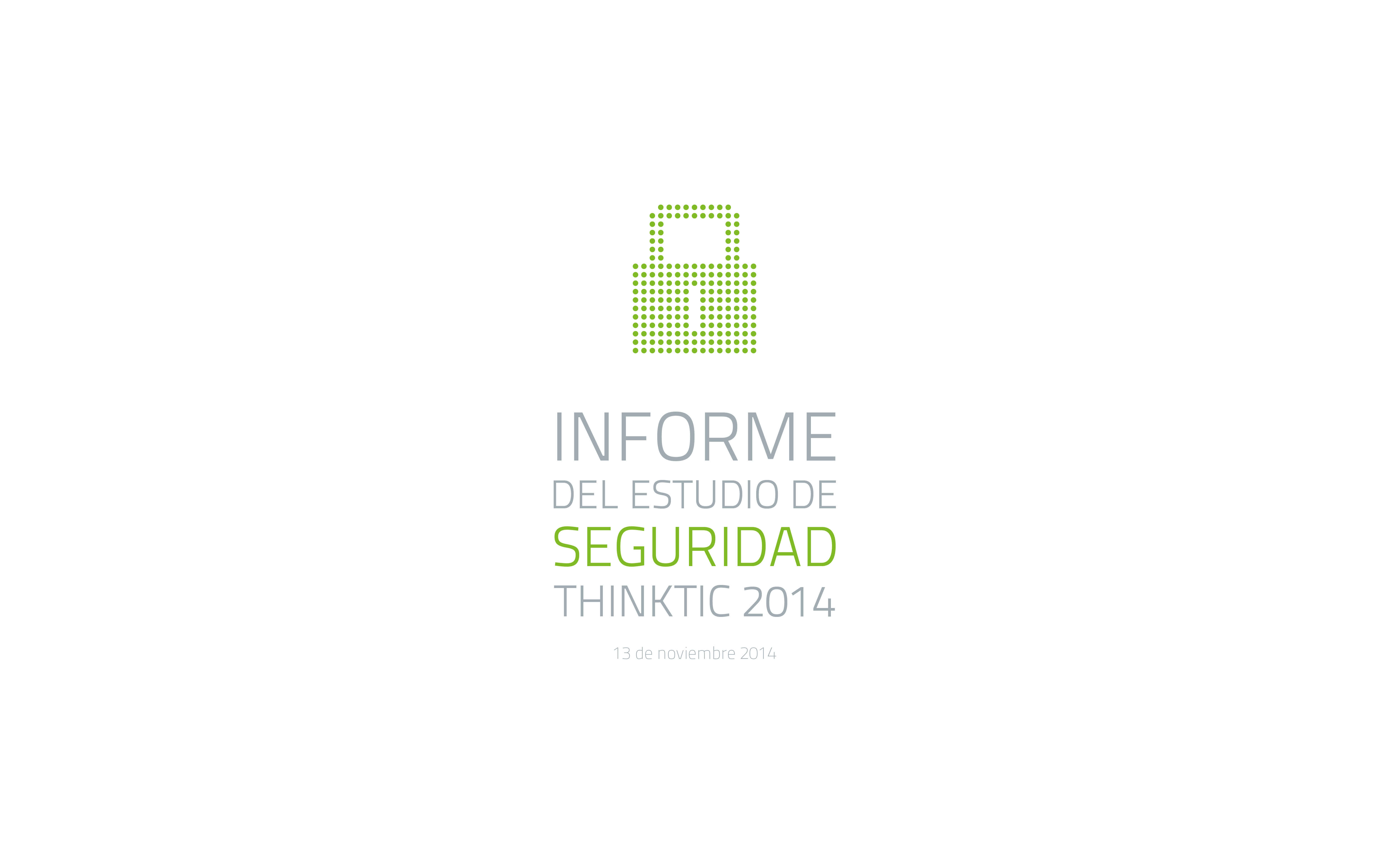 Informe del estudio de seguridad ThinkTIC 2014 logo