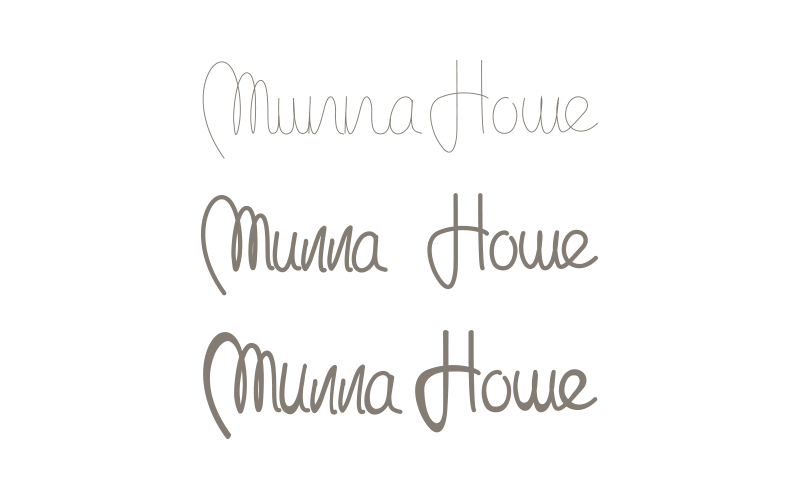 Munna Home lettering01
